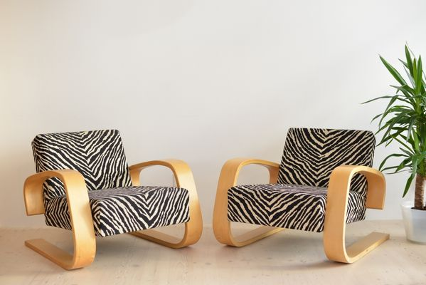 tank chairs by alvar aalto for artek finland 1980s set of 2 for