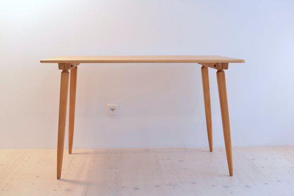 Mesa de comedor vintage de madera de pino de Jacob Müller para ...