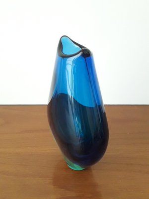 Vintage Sommerso Murano Glass Vase For Sale At Pamono