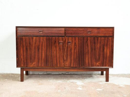 Vintage Danish Sideboard with 2 Doors and 2 Drawers in Rosewood from Brouer 1  sc 1 st  Pamono & Vintage Danish Sideboard with 2 Doors and 2 Drawers in Rosewood from ...