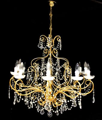 4cffa94c3abf8a Vintage Gold Chandelier with Swarovski Crystal Drops from Strass ...