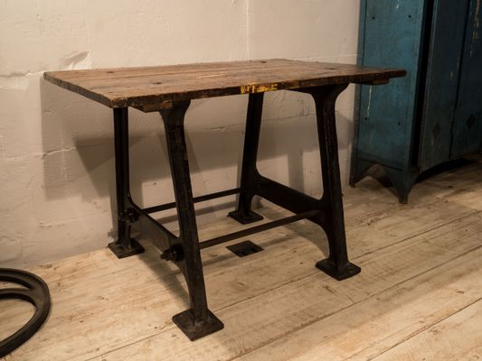 Antique Industrial Side Table 1