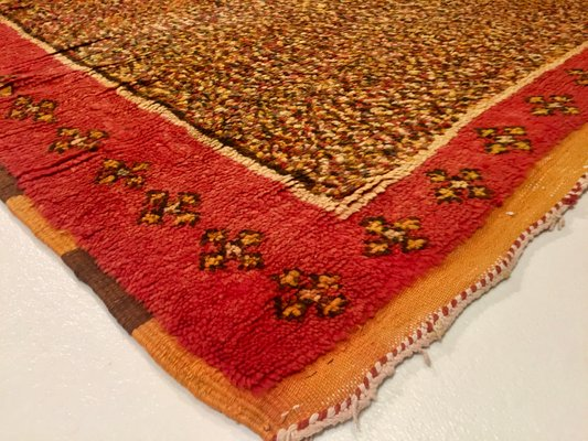 Vintage Berber Teppich In Safrangelb Rot Bei Pamono Kaufen