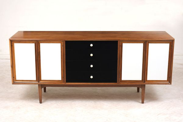 Mid-Century Walnut Credenza from Drexel Declaration, 1960s for sale on mid century modern 9 drawer dresser, jesper credenza office storage wood, mid century wood furniture,