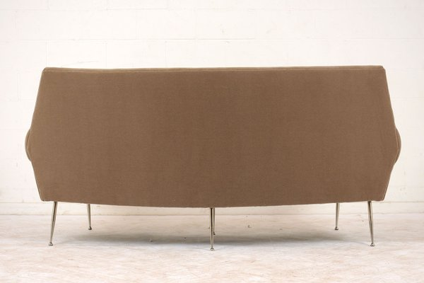 Italian Modern 3-Seater Curved Sofa, 1960s
