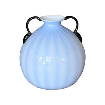 Blue Vase With Black Handles 1940s For Sale At Pamono