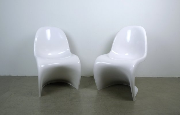 Weiße Panton Sessel Von Verner Panton Für Fehlbaum 1971 2er Set