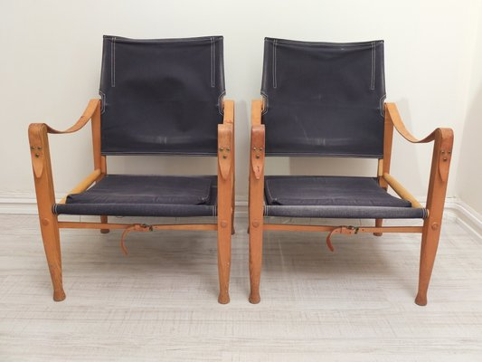 Exceptionnel Vintage Safari Chairs By Kaare Klint For Rud. Rasmussen, Set Of 2 1