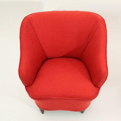 Bon Italian Red Armchairs, 1940s, Set Of 2 8