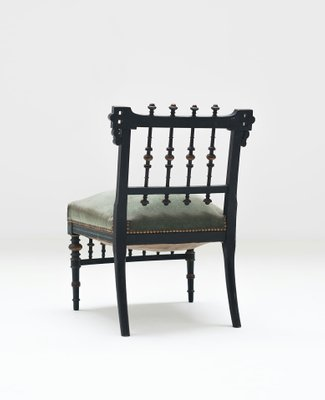 Fabulous Antique Wooden Nursing Chair With Green Upholstery Machost Co Dining Chair Design Ideas Machostcouk