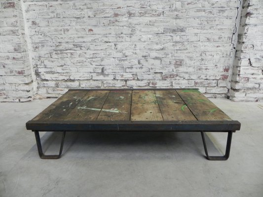 Mid Century Industrial Coffee Table 1