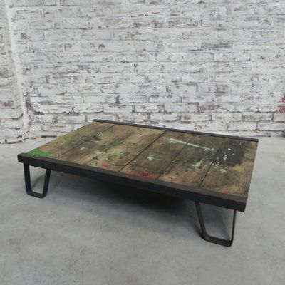 Mid Century Industrial Coffee Table 2