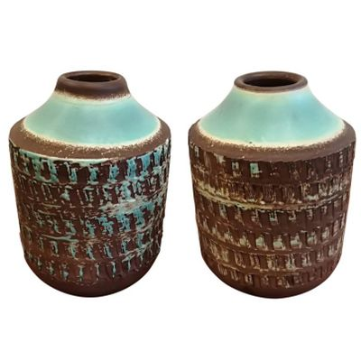 Art Deco Ceramic Vases Set Of 2 For Sale At Pamono