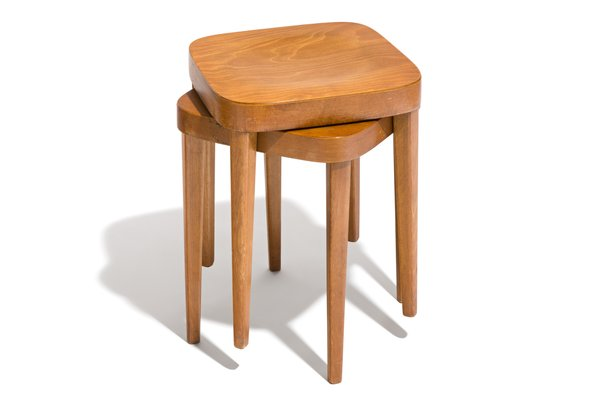 Fantastic Swiss Wooden Stools From Tutsch 1955 Set Of 2 Squirreltailoven Fun Painted Chair Ideas Images Squirreltailovenorg