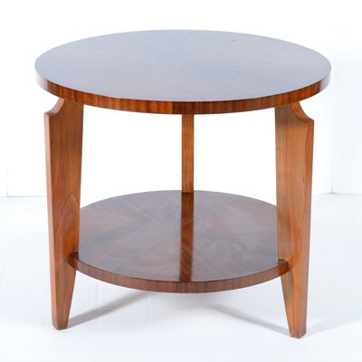 French Art Deco Round Side Table 1940s 1