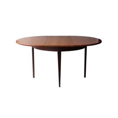 Tavolo Da Pranzo Rotondo Allungabile In Palissandro Anni 50 In