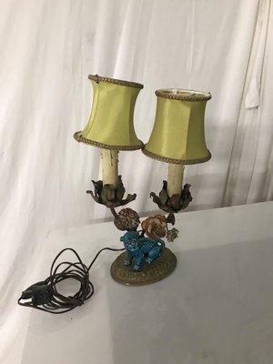 Bronze U0026 Porcelain Table Lamp, 1940s 1