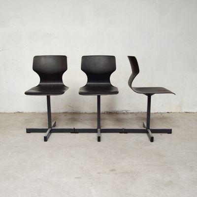 Stühle Adam Stegner Pagholz für Flötotto1970er3er Set von kwPZTlOXiu