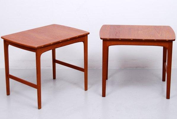 Solid Teak Side Tables By Yngvar