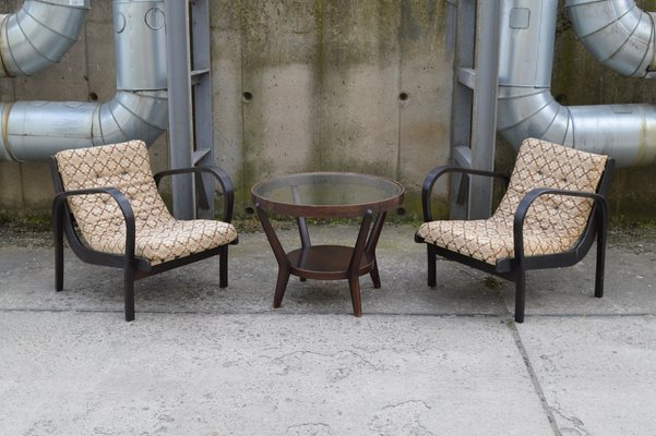 Lounge Chairs Coffee Table Set By K Koželka A Kropáček For České