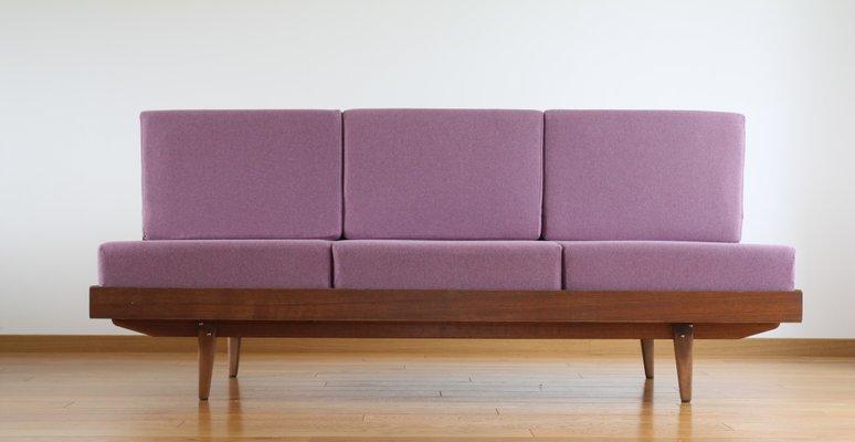 Vintage Solid Wood And Veneered Walnut Sofabed By František Jirák 1960s