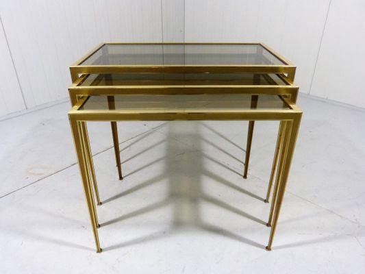 c2d01b3da534d Brass Nesting Tables from Deutsche Werkstätten