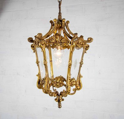 Antique Bronze Ceiling Light For Sale At Pamono