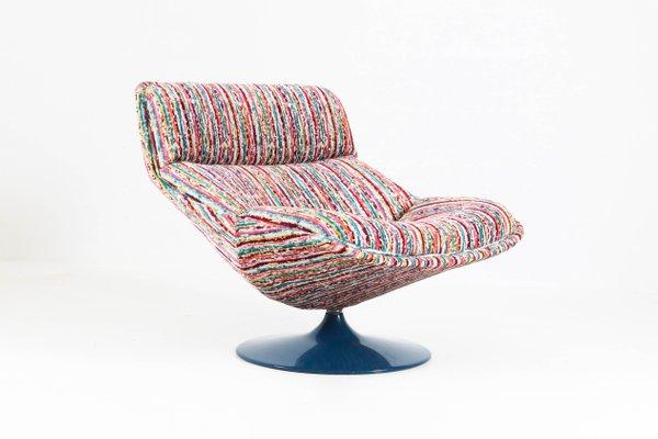 Model F518 Mid Century Modern Swivel Chair By Geoffrey Harcourt For