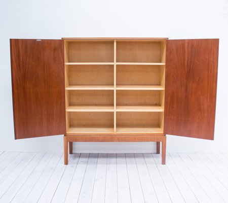 Ordinaire Vintage Mahogany Linen Cabinet By CB Hansen 2