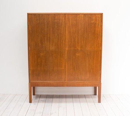 Exceptionnel Vintage Mahogany Linen Cabinet By CB Hansen 1