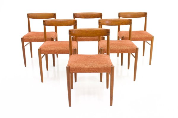 Vintage Danish Teak Dining Chairs By H W Klein For Bramin Set Of 6