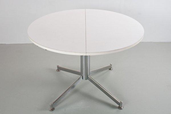 Tavoli Da Cucina Rotondi : Tavolo da pranzo rotondo vintage allungabile in metallo e legno di