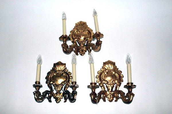 Applique in legno dorato inizio xx secolo in vendita su pamono