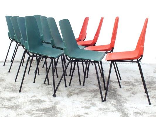 Vintage Plastik Stuhle Von Fantasia France 1960er 12er Set Bei
