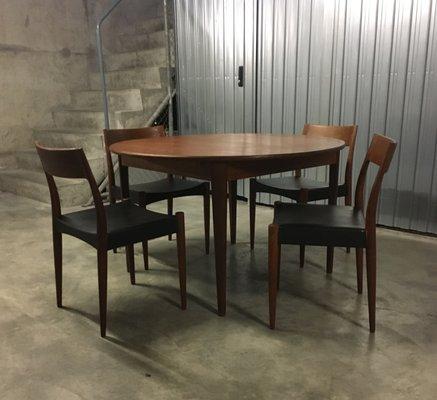 Danish Teak Dining Set By Arne Hovmand Olsen For Mogens Kold 1950s 1