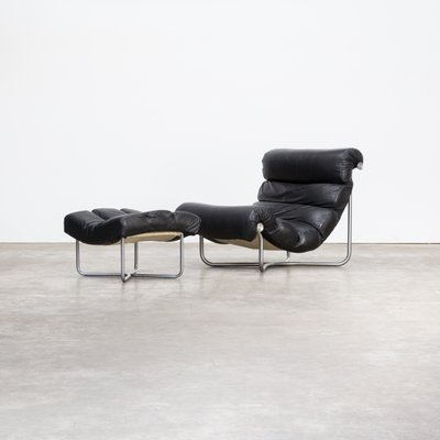 Model Glasgow Lounge Chairs U0026 Ottoman By Georges Van Rijck For Beaufort  Belgium, 1970s