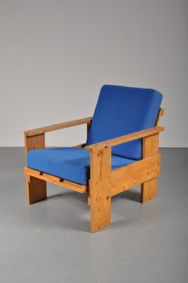 Vintage Dutch Pine Crate Chair, 1960s 1