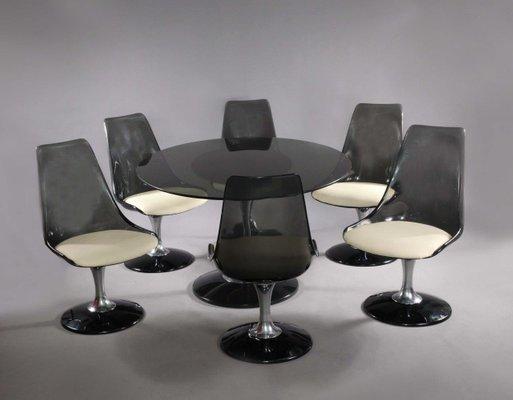 Tavolo Ovale Design : Tavolo ovale e sedie girevoli tulip di chromcraft anni in