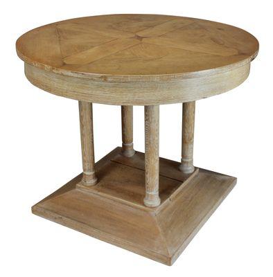 Vintage French Limed Oak Pillar Table 2