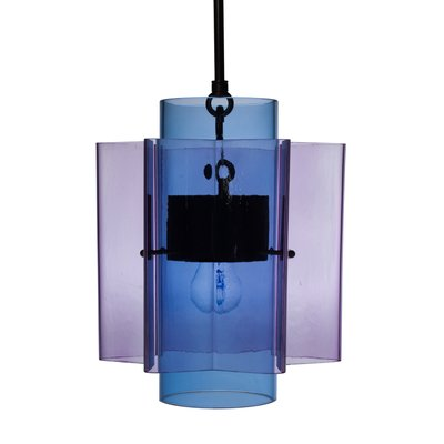 Petrona Star-Shaped Pendant Light in Purple and Blue Mouthblown Glass by  Fred&Juul
