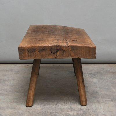 Vintage Oak Butcheru0027s Block Coffee Table Or Bench, ...