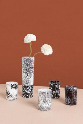Macchia su Macchia Black & White Reversible Glass Vase or Candleholder by  Stories of Italy