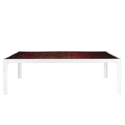 Wiesie Dining Table With Vintage Middle Eastern Rug In Epoxy Resin By Fred Juul 1