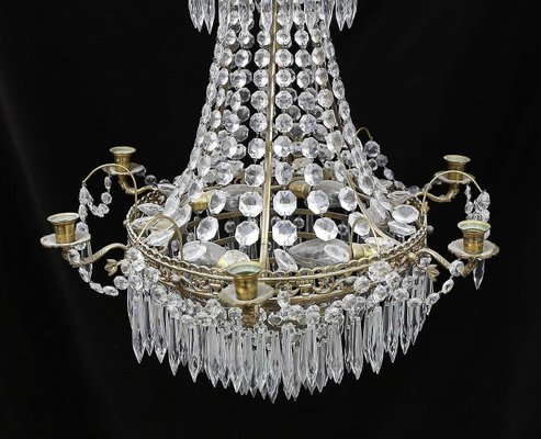 Antique swedish prism chandelier for sale at pamono antique swedish prism chandelier 2 aloadofball Gallery
