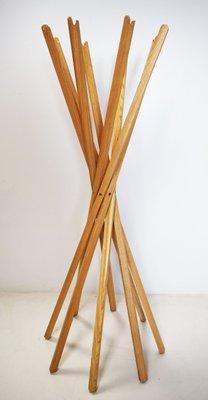 Appendiabiti Legno Design.Appendiabiti Sciangi Chiudibile In Legno Di Frassino Di De Pas D Urbino Lomazzi Per Nuova Fada 1974
