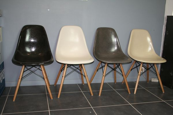 DSW Stuhle Von Charles Ray Eames Fur Herman Miller 1950er 4er Set 1