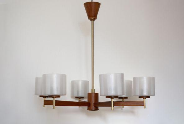 Lampade Da Soffitto Vintage : Lampada da soffitto vintage impiallacciata in legno di noce con