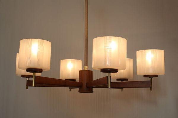 Lampadari da soffitto in legno plafoniere per travi legno lampade