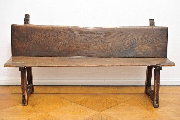 Antique French Walnut Bench 1
