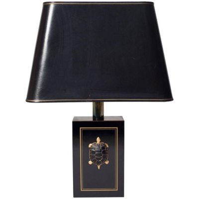 Black plexiglas and brass turtle table lamp1980s for sale at pamono black plexiglas and brass turtle table lamp1980s 1 aloadofball Choice Image